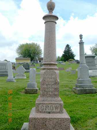 CROW MONUMENT, LAWRENCE - Holmes County, Ohio | LAWRENCE CROW MONUMENT - Ohio Gravestone Photos