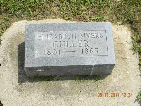 CULLER, ELIZABETH - Holmes County, Ohio | ELIZABETH CULLER - Ohio Gravestone Photos