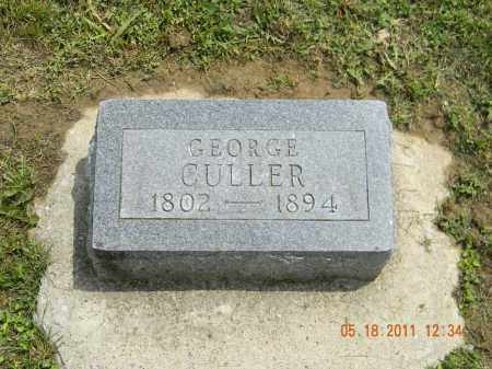 CULLER, GEORGE - Holmes County, Ohio | GEORGE CULLER - Ohio Gravestone Photos