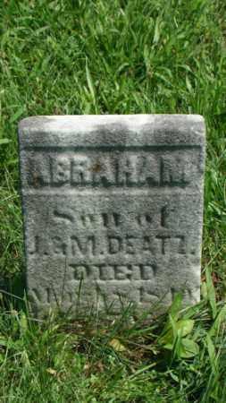 DEATZ, ABRAHAM - Holmes County, Ohio | ABRAHAM DEATZ - Ohio Gravestone Photos