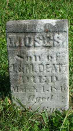 DEATZ, MOSES - Holmes County, Ohio | MOSES DEATZ - Ohio Gravestone Photos