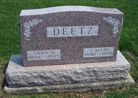 DEETZ, ANNA M - Holmes County, Ohio | ANNA M DEETZ - Ohio Gravestone Photos