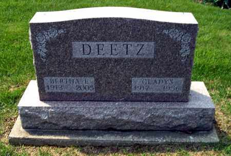 DEETZ, GLADYS - Holmes County, Ohio | GLADYS DEETZ - Ohio Gravestone Photos