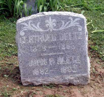 DEETZ, JOHN P - Holmes County, Ohio | JOHN P DEETZ - Ohio Gravestone Photos