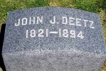 DEETZ, JOHN J. - Holmes County, Ohio | JOHN J. DEETZ - Ohio Gravestone Photos