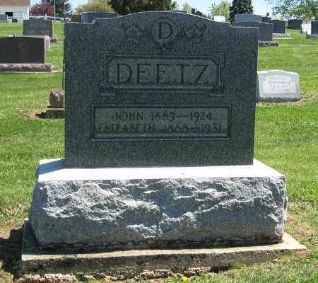 DEETZ, ELIZABETH - Holmes County, Ohio | ELIZABETH DEETZ - Ohio Gravestone Photos