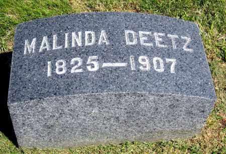 DEETZ, MALINDA - Holmes County, Ohio | MALINDA DEETZ - Ohio Gravestone Photos