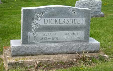 DICKERSHEET, ALTA M - Holmes County, Ohio | ALTA M DICKERSHEET - Ohio Gravestone Photos