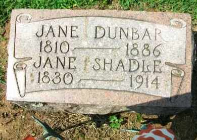 SHADLE, JANE - Holmes County, Ohio | JANE SHADLE - Ohio Gravestone Photos