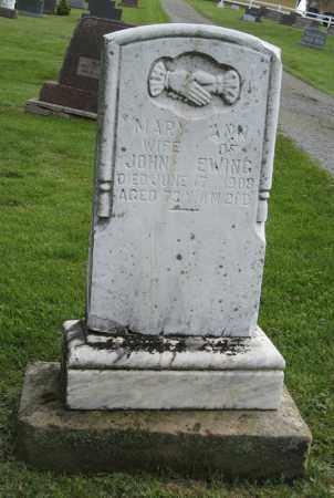 EWING, MARY ANN - Holmes County, Ohio | MARY ANN EWING - Ohio Gravestone Photos