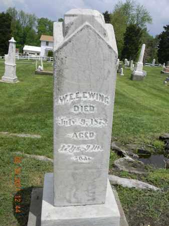 EWING, W.E.E. - Holmes County, Ohio   W.E.E. EWING - Ohio Gravestone Photos