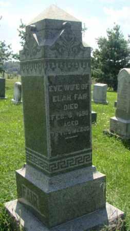 FAIR, EVE - Holmes County, Ohio | EVE FAIR - Ohio Gravestone Photos