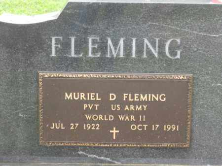 FLEMING, MURIEL D. - Holmes County, Ohio | MURIEL D. FLEMING - Ohio Gravestone Photos