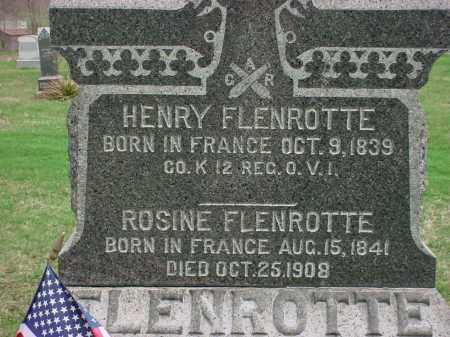 FLENROTTE, HENRY - Holmes County, Ohio | HENRY FLENROTTE - Ohio Gravestone Photos