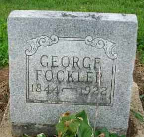 FOCKLER, GEORGE - Holmes County, Ohio | GEORGE FOCKLER - Ohio Gravestone Photos