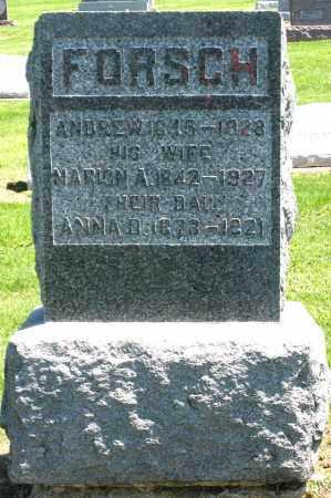 FORSCH, MARION A. - Holmes County, Ohio | MARION A. FORSCH - Ohio Gravestone Photos