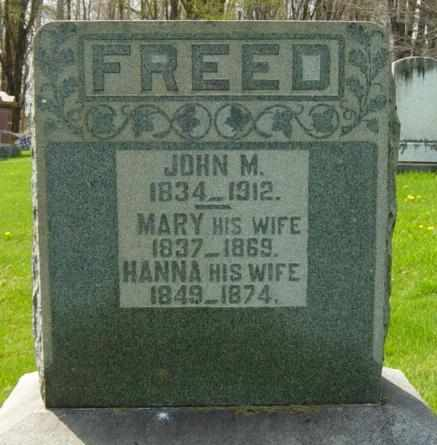 FREED, JOHN M. - Holmes County, Ohio | JOHN M. FREED - Ohio Gravestone Photos