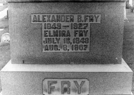 FRY, ALEXANDER B. - Holmes County, Ohio | ALEXANDER B. FRY - Ohio Gravestone Photos