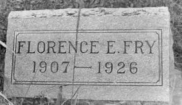 FRY, FLORENCE - Holmes County, Ohio | FLORENCE FRY - Ohio Gravestone Photos