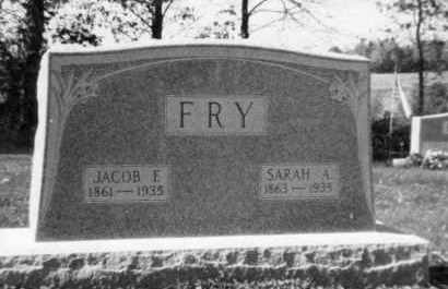 FRY, JACOB F - Holmes County, Ohio | JACOB F FRY - Ohio Gravestone Photos