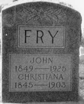 FRY, CHRISTIANA - Holmes County, Ohio | CHRISTIANA FRY - Ohio Gravestone Photos