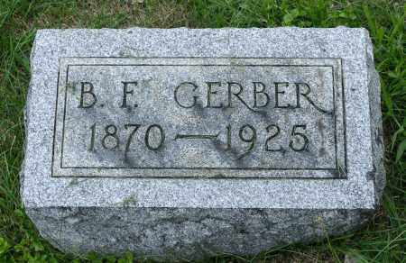 GERBER, BENJAMIN F. - Holmes County, Ohio | BENJAMIN F. GERBER - Ohio Gravestone Photos