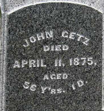 GETZ, JOHN - Holmes County, Ohio | JOHN GETZ - Ohio Gravestone Photos