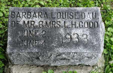 GOOD, BARBARA LOUISE - Holmes County, Ohio | BARBARA LOUISE GOOD - Ohio Gravestone Photos