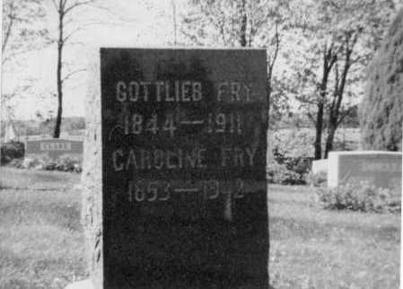 FRY, GOTLIEB - Holmes County, Ohio | GOTLIEB FRY - Ohio Gravestone Photos
