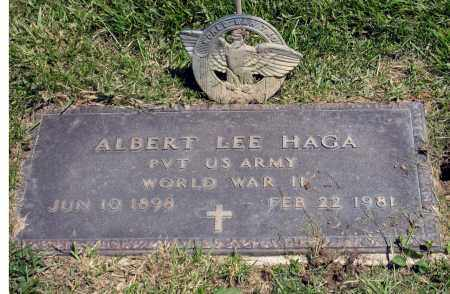 HAGA, ALBERT LEE - Holmes County, Ohio | ALBERT LEE HAGA - Ohio Gravestone Photos