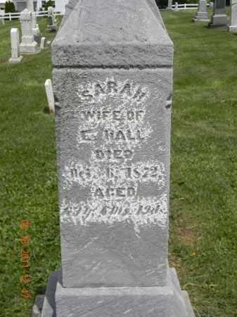HALL, SARAH - Holmes County, Ohio   SARAH HALL - Ohio Gravestone Photos