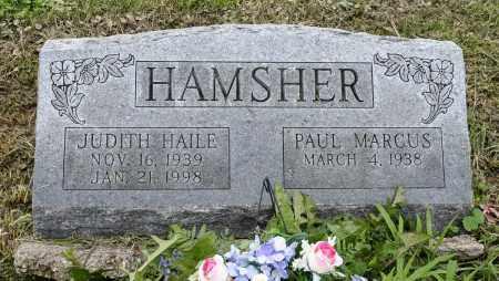 HAILE HAMSHER, JUDITH - Holmes County, Ohio | JUDITH HAILE HAMSHER - Ohio Gravestone Photos