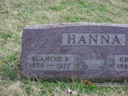 SMITH HANNA, BLANCHE B - Holmes County, Ohio | BLANCHE B SMITH HANNA - Ohio Gravestone Photos