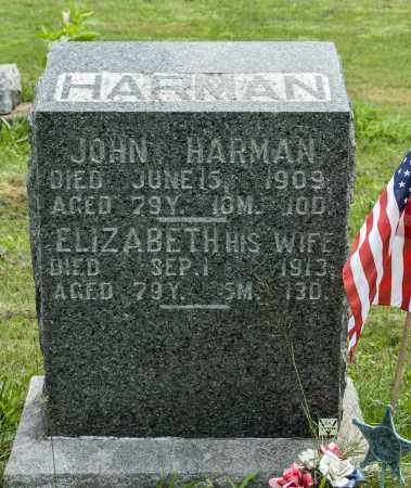 HARMAN, ELIZABETH - Holmes County, Ohio | ELIZABETH HARMAN - Ohio Gravestone Photos
