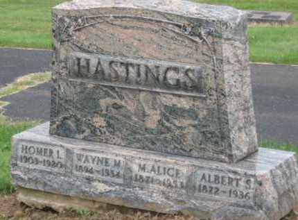 HASTINGS, M. ALICE - Holmes County, Ohio | M. ALICE HASTINGS - Ohio Gravestone Photos