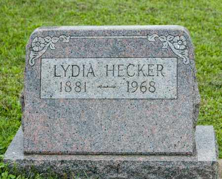 HECKER, LYDIA - Holmes County, Ohio | LYDIA HECKER - Ohio Gravestone Photos