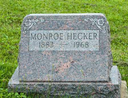 HECKER, MONROE - Holmes County, Ohio | MONROE HECKER - Ohio Gravestone Photos