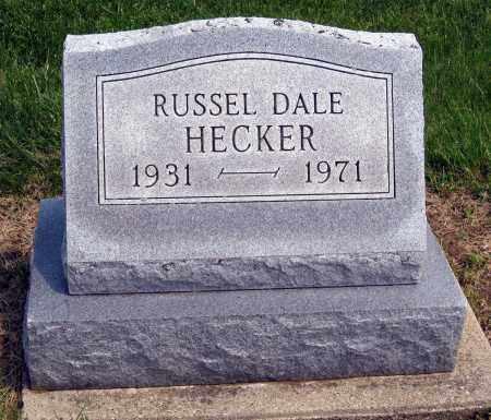 HECKER, RUSSEL DALE - Holmes County, Ohio   RUSSEL DALE HECKER - Ohio Gravestone Photos