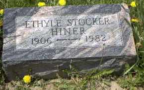 STOCKER HINER, ETHYLE P. - Holmes County, Ohio | ETHYLE P. STOCKER HINER - Ohio Gravestone Photos