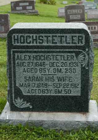 STUTZMAN HOCHSTETLER, SARAH - Holmes County, Ohio | SARAH STUTZMAN HOCHSTETLER - Ohio Gravestone Photos