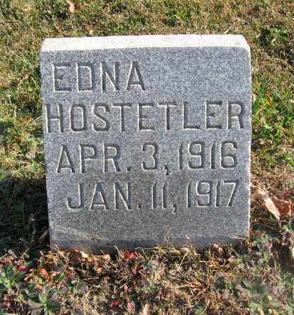 HOSTETLER, EDNA - Holmes County, Ohio | EDNA HOSTETLER - Ohio Gravestone Photos