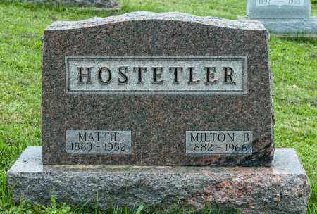 HOSTETLER, MATTIE - Holmes County, Ohio | MATTIE HOSTETLER - Ohio Gravestone Photos