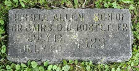 HOSTETLER, RUSSELL ALLEN - Holmes County, Ohio | RUSSELL ALLEN HOSTETLER - Ohio Gravestone Photos