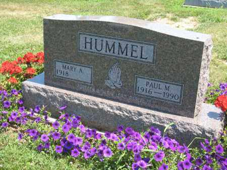 HUMMEL, MARY A. - Holmes County, Ohio | MARY A. HUMMEL - Ohio Gravestone Photos