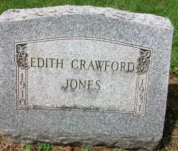 CRAWFORD JONES, EDITH - Holmes County, Ohio | EDITH CRAWFORD JONES - Ohio Gravestone Photos
