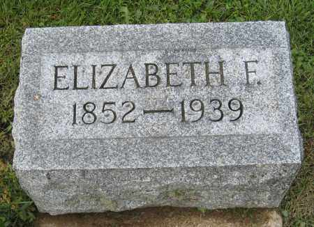 JONES, ELIZABETH F. - Holmes County, Ohio | ELIZABETH F. JONES - Ohio Gravestone Photos