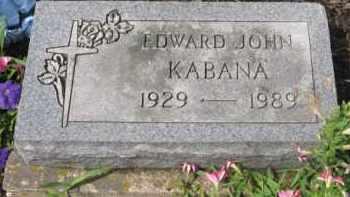 KABANA, EDWARD JOHN - Holmes County, Ohio | EDWARD JOHN KABANA - Ohio Gravestone Photos