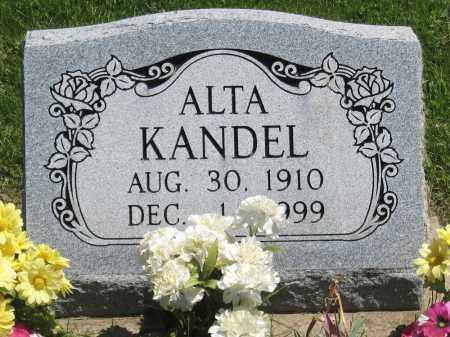 KANDEL, ALTA - Holmes County, Ohio | ALTA KANDEL - Ohio Gravestone Photos