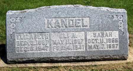 KANDEL, ELIZABETH - Holmes County, Ohio | ELIZABETH KANDEL - Ohio Gravestone Photos