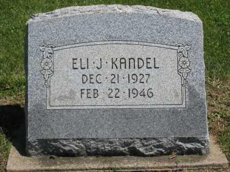KANDEL, ELI J. - Holmes County, Ohio | ELI J. KANDEL - Ohio Gravestone Photos